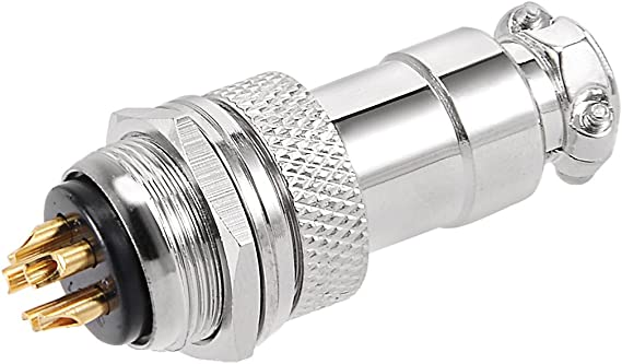 uxcell 10PCS Aviation Connector 16mm 2P 5A 125V DF16 Waterproof Female Wire Panel Power Chassis Metal Fittings Connector Aviation Silver Tone