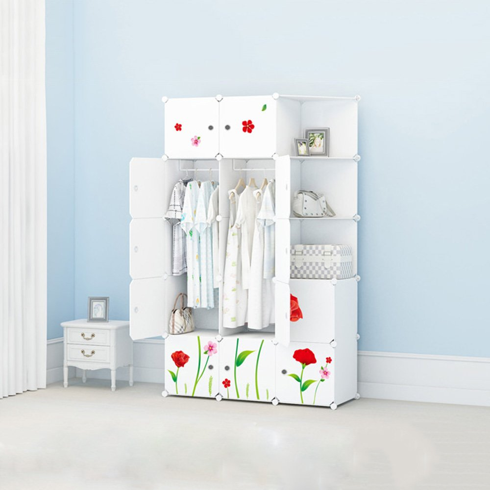 Z-H-Y-G Vestuario combinado, guardarropa simple, armario moderno simple de la economía, guardarropa montado del adulto, armarios de almacenaje plásticos ( Tamaño : A11147183cm )