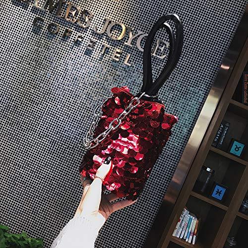 Seau 2017 Sequins Sac à Sac bandoulière Sac Petit Messenger bandoulière Bag à Rouge Sac Mode Femme personnalisé WSLMHH FnIBf0q