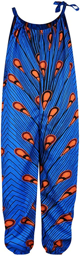YWLINK Mono Estampado Digital Dashiki Africano Ni/ñA Estilo Nacional Mono Holgado Sin Tirantes con Hombros Al Aire Y Verano Ajustable Ropa Casual Ni/ñA Petos Pantalones De Trabajo Regalo De Cumplea/ñOs