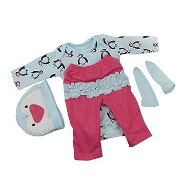 # 6 MagiDeal Puppen Kleidung f/ür 22-23  Reborn Babym/ädchen Puppe Dress Up