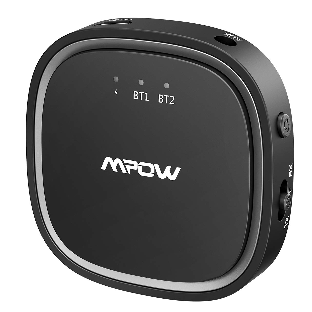 Mpow Bluetooth Transmitter and Receiver, 5.0 2-in-1 Bluetooth Adapter with aptX Low Latency and aptX HD, 50ft Wireless 3.5mm Audio Adapter, Dual-Link for TV, PC, CD Player, Home Stereo or MP3 Player