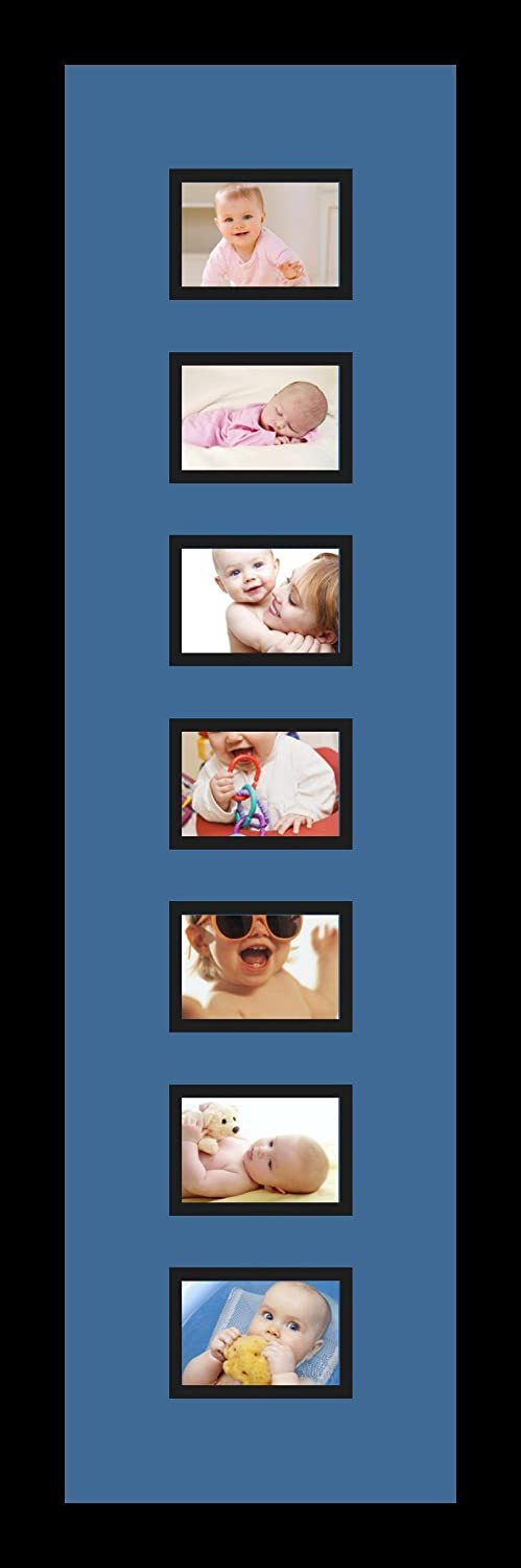 Art to Frames Double-Multimat-1263-817//89-FRBW26079 Collage Photo Frame Double Mat with 7-2.5x3.5 Openings and Satin Black Frame