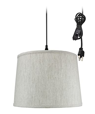 plug in pendant light by home concept hanging swag lamp textured rh amazon com