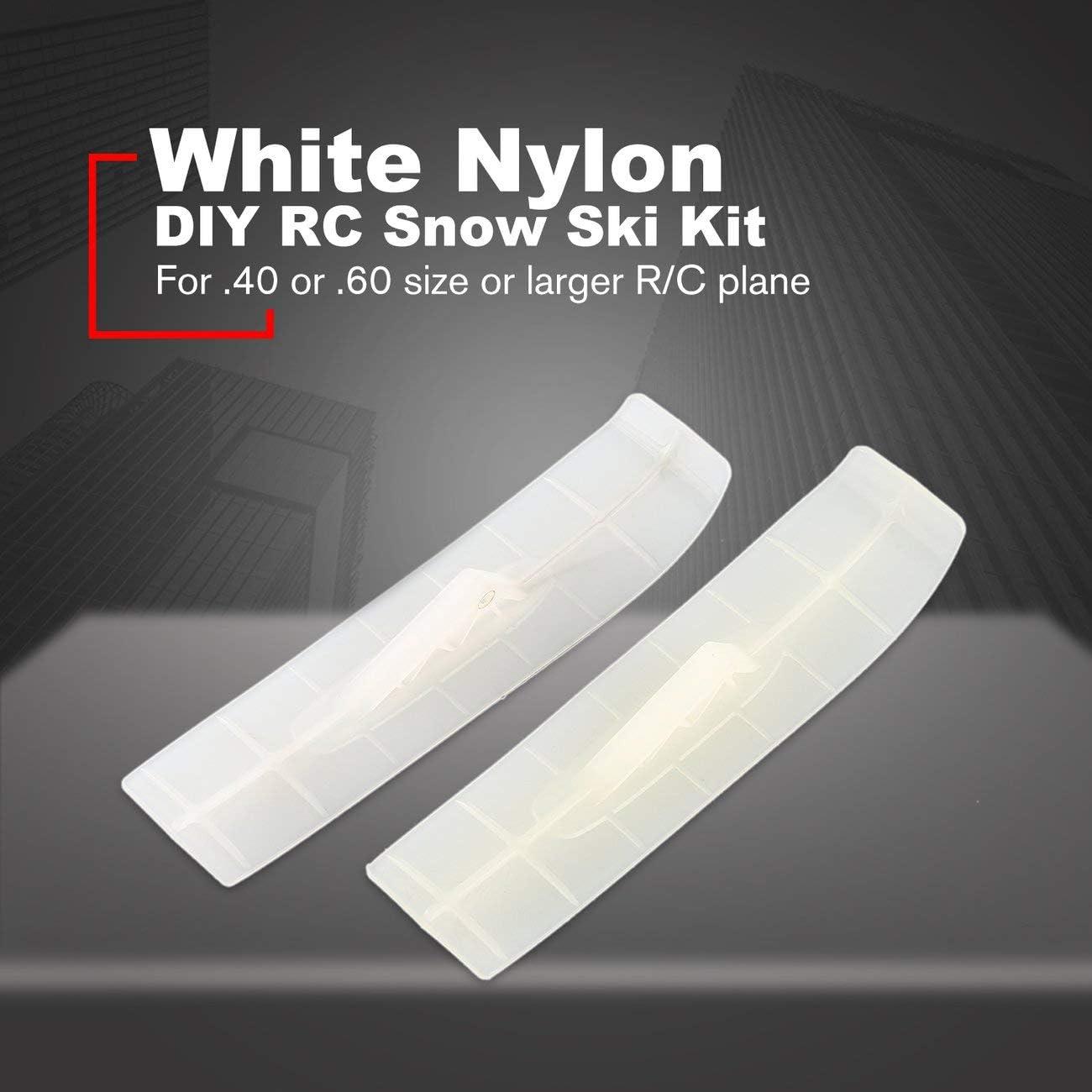 Fannty Nylon Rc Skateboard DIY Rc Schnee Ski Kit Kompatibel f/ür .40 oder .60 /& Gr/ö/ße Gr/ö/ßere R//C Flugzeug