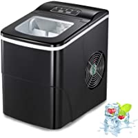 AGLUCKY Counter top Ice Maker Machine,Compact Automatic Ice Maker,9 Cubes Ready in 6-8 Minutes,Portable Ice Cube Maker…