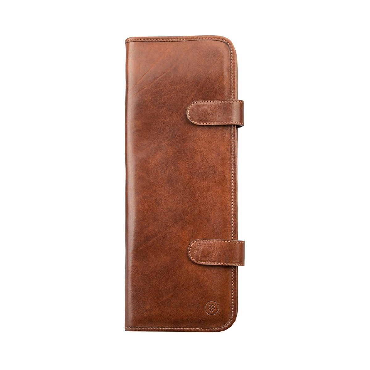 Maxwell Scott Personalized Luxury Italian Tan Brown Leather Tie Case (Tivoli) by Maxwell Scott Bags