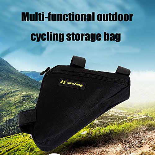 Juemenzhe Sport Bicycle Bike Storage Bag Triangle Saddle Frame Strap-On Pouch for Cycling by Juemenzhe (Image #4)
