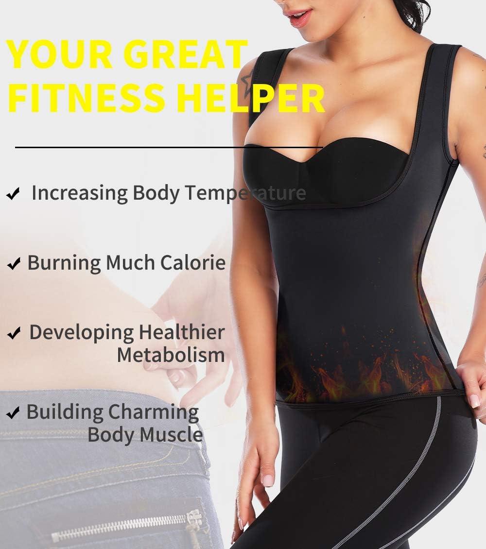 MISS MOLY Hot Sauna Shapers Vest da Donna Dimagrante Snellente Canotta Silhouette Neoprene Slimming Shirt Fitness Effetto Addominale Reducer Corpetto