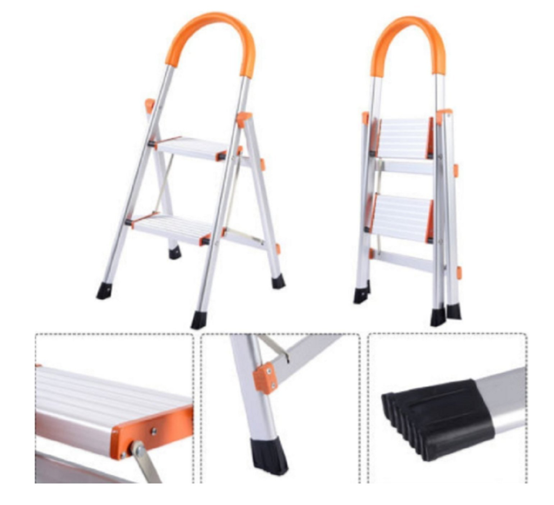 USA Premium Store Non-slip 2 Step Aluminum Ladder Folding Platform Stool 330 lbs Load Capacity by USA Premium Store