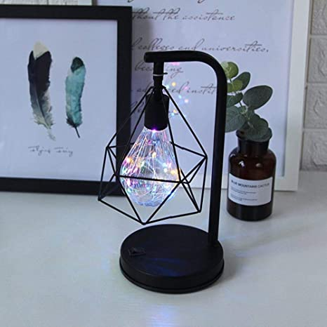 PIN Lámpara de mesa decorativa Lámpara de atmósfera retro ...