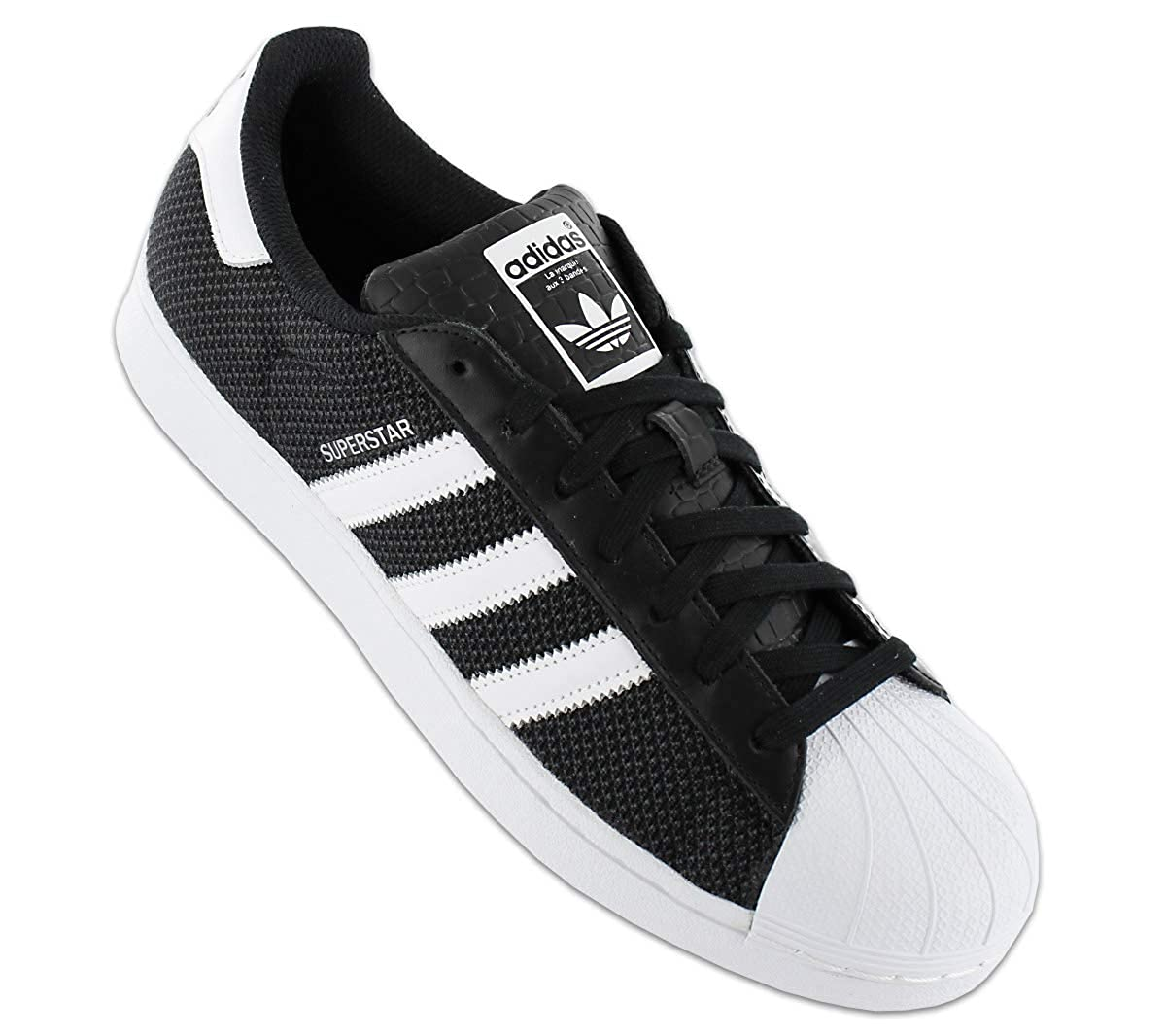 1da376c66330 adidas Men s Superstar Mesh Sneakers Black  Amazon.co.uk  Shoes   Bags