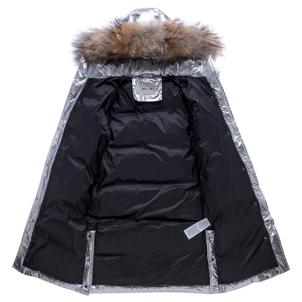 Piumino per Bambini Inverno Anatra Gi/ù Argento Caldi Lungo Cappotto Antivento Ragazzo E della Ragazza