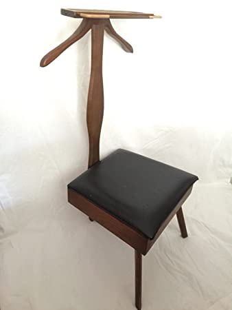 Mens Valet Vintage Mid Century Modern Butler Chair Wardrobe Stand Danish Style  sc 1 st  Amazon.com : vintage valet chair - Cheerinfomania.Com