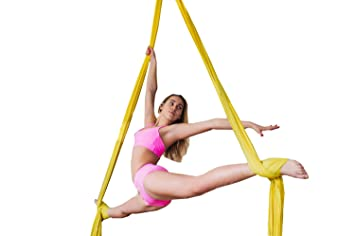 f life aerial silks yoga hammock standard kit 10 m with yoga accessories and guide amazon     f life aerial silks yoga hammock standard kit 10 m      rh   amazon