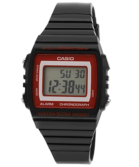 Casio W-215H-1A2VDF (I077) - Reloj para mujeres, correa de goma color negro: Amazon.es: Relojes