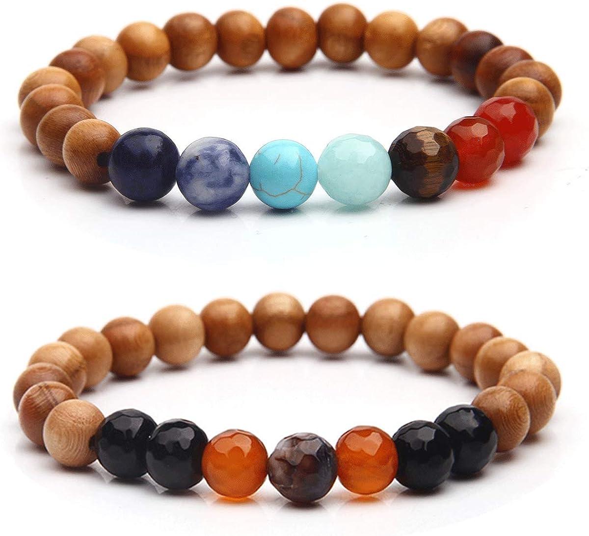 Sandalwood Lava and Amazonite Bracelet Set Jewelry Calming /& Anxiety Lava Bracelet Sandalwood Bracelet Grade AA Amazonite