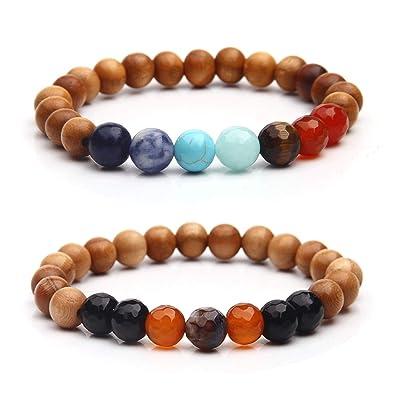 f2ee81c819262 Amazon.com  Wood Beads Yoga Bracelet