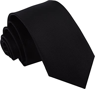 DQT - Corbata para hombre, Tejido de microfibra, color liso, 7 cm ...