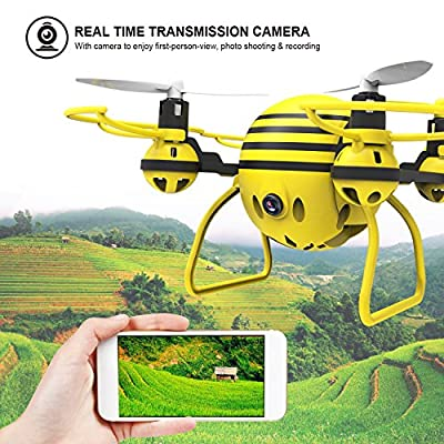 HASAKEE H1 FPV RC Drone with HD Live Video Wifi Camera and Headless Mode 2.4GHz 6-Axis Gyro Quadcopter with Altitude Hold,One-Button Take off/Landing,Good for Beginners from HASAKEE