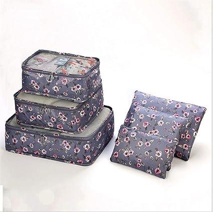 SAKUROO 6PCS Conjunto de Bolsa de Almacenamiento de Viaje ...