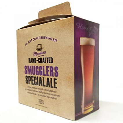 1cde72f2 Home Brew Ingredients - Muntons Hand Crafted - Smugglers Special Premium  Ale - 40 Pint Homebrew Beer Kit: Amazon.co.uk: Kitchen & Home