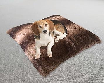 Cama para mascotas con interior de poliéster para perros y gatos pequeños, relleno de piel