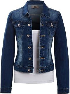 SS7 Femmes Taille 42-48 Denim Stretch Veste Femme Jean Manteaux Bleu
