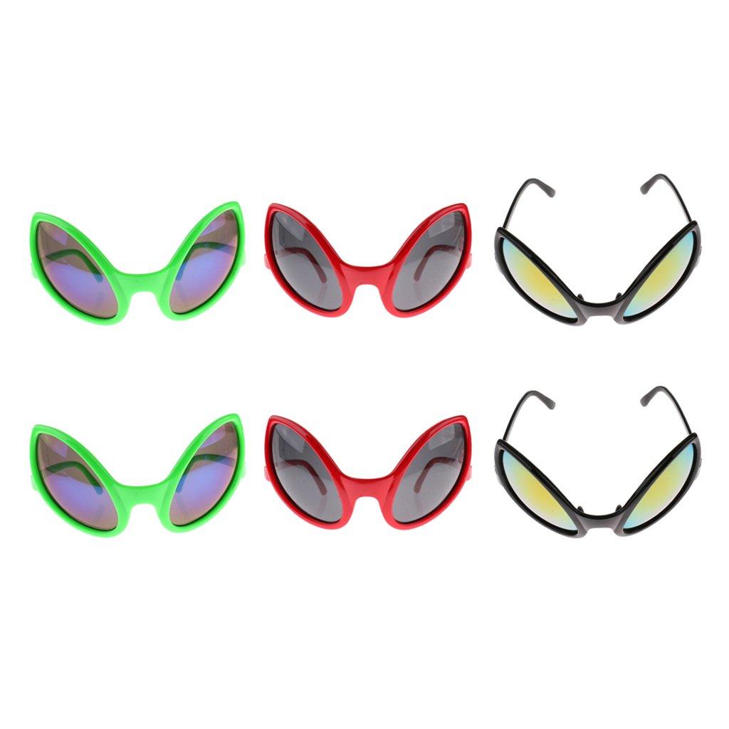 Adult Alien Dark Lens Glasses Unisex Halloween Fancy Dress Party Accessory