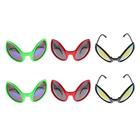 3b769aa031 Homyl Set of 6pcs Funny Black Red Green Fashion Alien Sunglasses Rainbow  Lenses Eyewear Glasses Party Dressing Up Photo Prop  Amazon.co.uk  Kitchen    Home