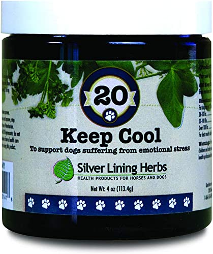 Keep Cool Natural Herbal Support for Calming Anxious and Excitable Dogs Helps Relieve Stress, Anxiety and Maintain Contentment 4 Ounce Powder Made in USA by Silver Lining Herbs