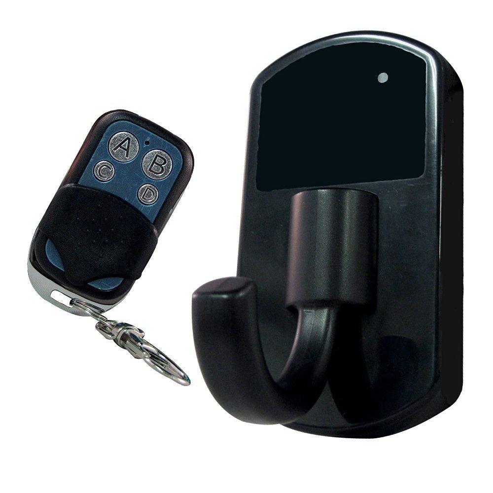 【小型カメラ】 インテリア コートフック型カメラ!! 動きで自動撮影を開始する動体検知機能搭載!! オフィス、ロッカーでの盗難の証拠撮りにお勧めです!! リモコンで遠隔操作も可能ですので怪しまれず撮影スタート!! B01LY2QSTW