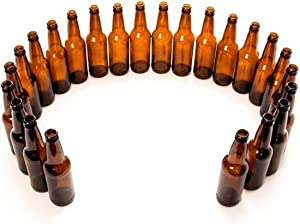 Monster Brew Home Brewing Supp Amber Beer Bottles-12 oz Longneck-Case of 24, 12 oz