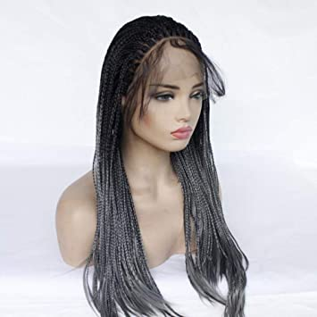 Cabello trenzas peluca larga azul 24 pulgadas Peluca Mujer Disfraz ...