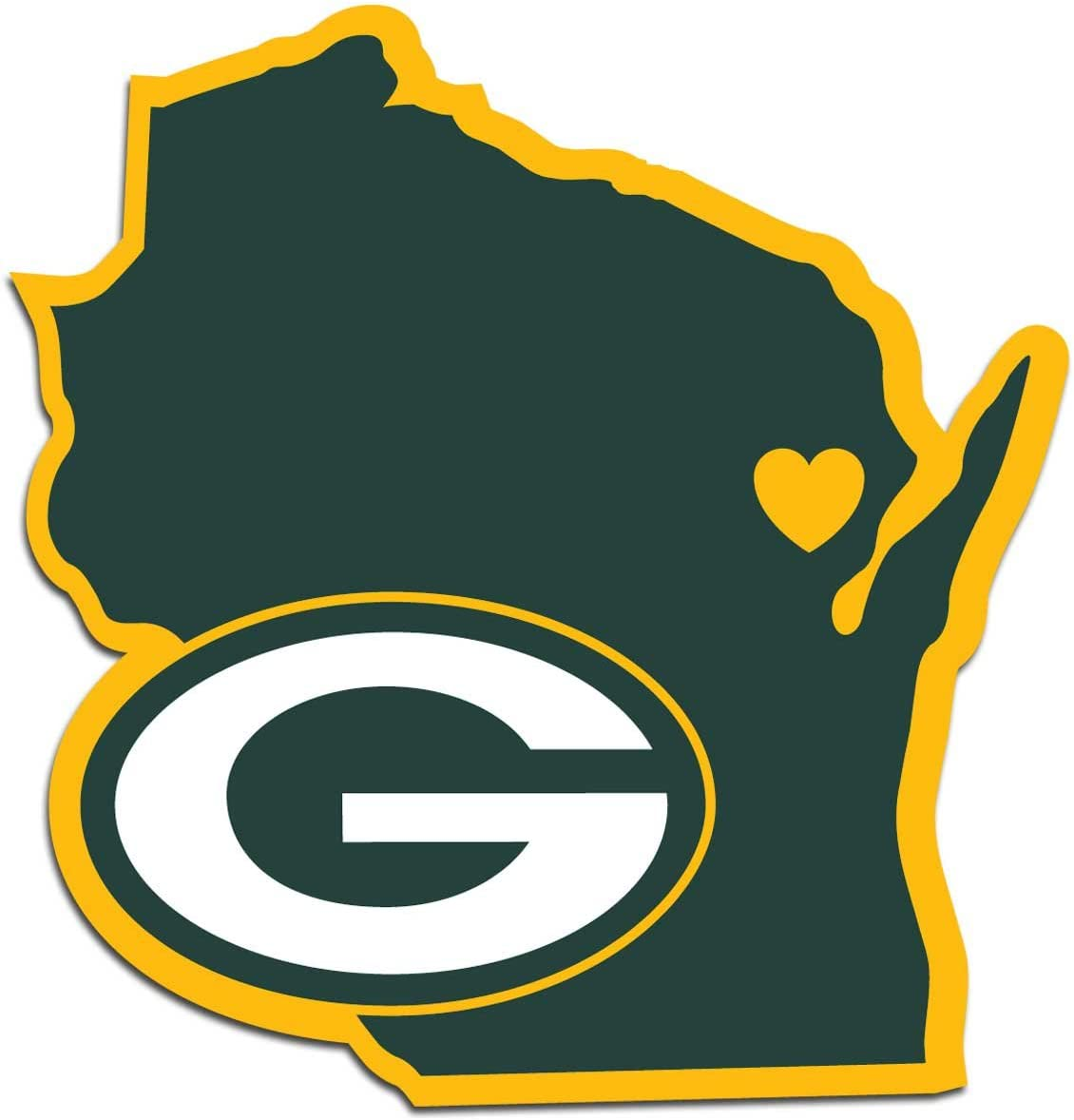 NFL Siskiyou Sports Fan Shop Green Bay Packers Home State Decal One Size Team Color