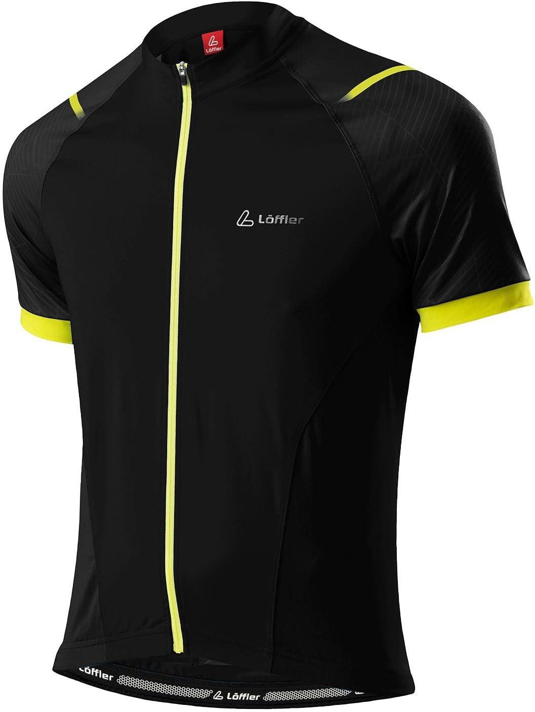 Löffler – Bicicleta de ciclismo Camiseta Bike camiseta como FZ negro amarillo, schwarz/zitrone: Amazon.es: Deportes y aire libre