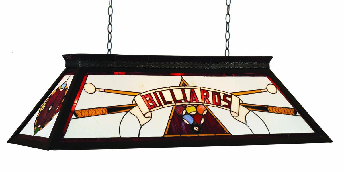 RAM Gameroom Products 44-Inch Billiard Table Light with KD Frame, Red, 44-Inch