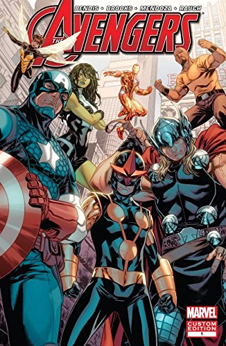 The Avengers and Nova by the all-star team of Brian Michael Bendis and Mark Brooks!  What is a hero? When Sam Alexander, a.k.a. Nova, has a bout of doubt on how to best use his newfound powers, he gets advice from the experts: Earth's Mightiest Heroe...