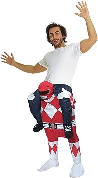 Morph Disfraz Power Rangers Rojo a Caballito para adultos ...