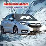 (for Honda Civic Accord ) Magnetic Windshield Cover Ice & Snow - Cartoon Eyes Design - Frost Freeze Protector Sun-UV Waterproof - Fulfilled by Amazon -