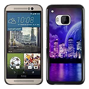 LECELL -- Funda protectora / Cubierta / Piel For HTC One M9 -- Fantasy Sci Fi Planet World Neon --