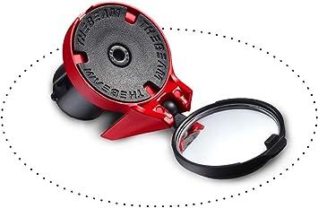 Espejo retrovisor para bicicleta de carreras - Aerodinámica - Diseño - Fijación en los mangos del manillar - CORKY by THE BEAM (Rojo): Amazon.es: Deportes y aire libre