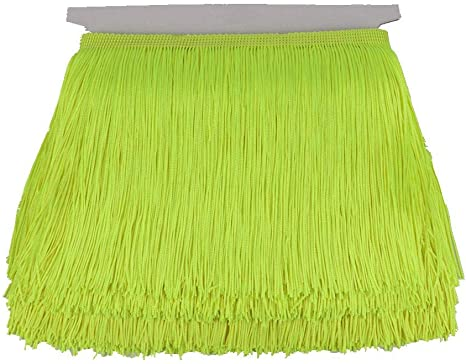 Heartwish268 Fringe Trim Lace Polyerter Fibre Tassel 6inch(/″) Wide 10 Yards Long for Clothes Accessories and Latin Wedding Dress and DIY Lamp Shade Decoration Black White Red Red