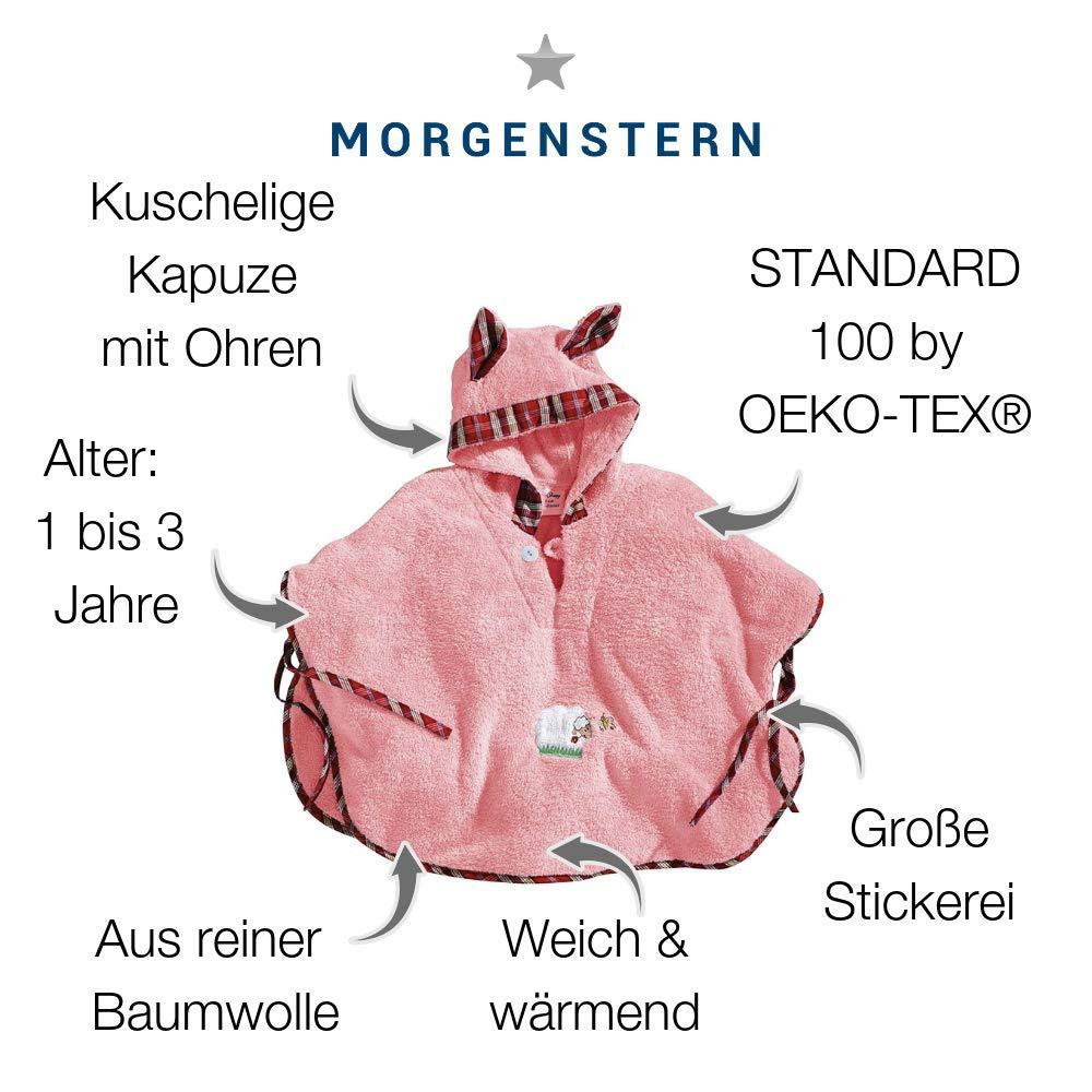 de Super Soft microfibra 1/ /3/A/ñOS color rosa Poncho de ba/ño Sleepy Sheepy Talla /Única Morgenstern