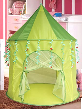 Green Leaf Princess popup Play Tent Castle Pop Up by Sid Trading & Amazon.com: Green Leaf Princess popup Play Tent Castle Pop Up by Sid ...