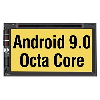 PUMPKIN Android 9 0 Car Stereo Double Din with DVD Player, GPS Navigation,  WiFi, Support Fastboot, Backup Camera, Android Auto, AUX, USB SD, 7 Inch