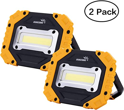 Portable Led Work Light Cob Flood Lights Job Site Lighting Super Bright Waterproof For Outdoor Camping Hiking Car Repairing Fishing Workshop