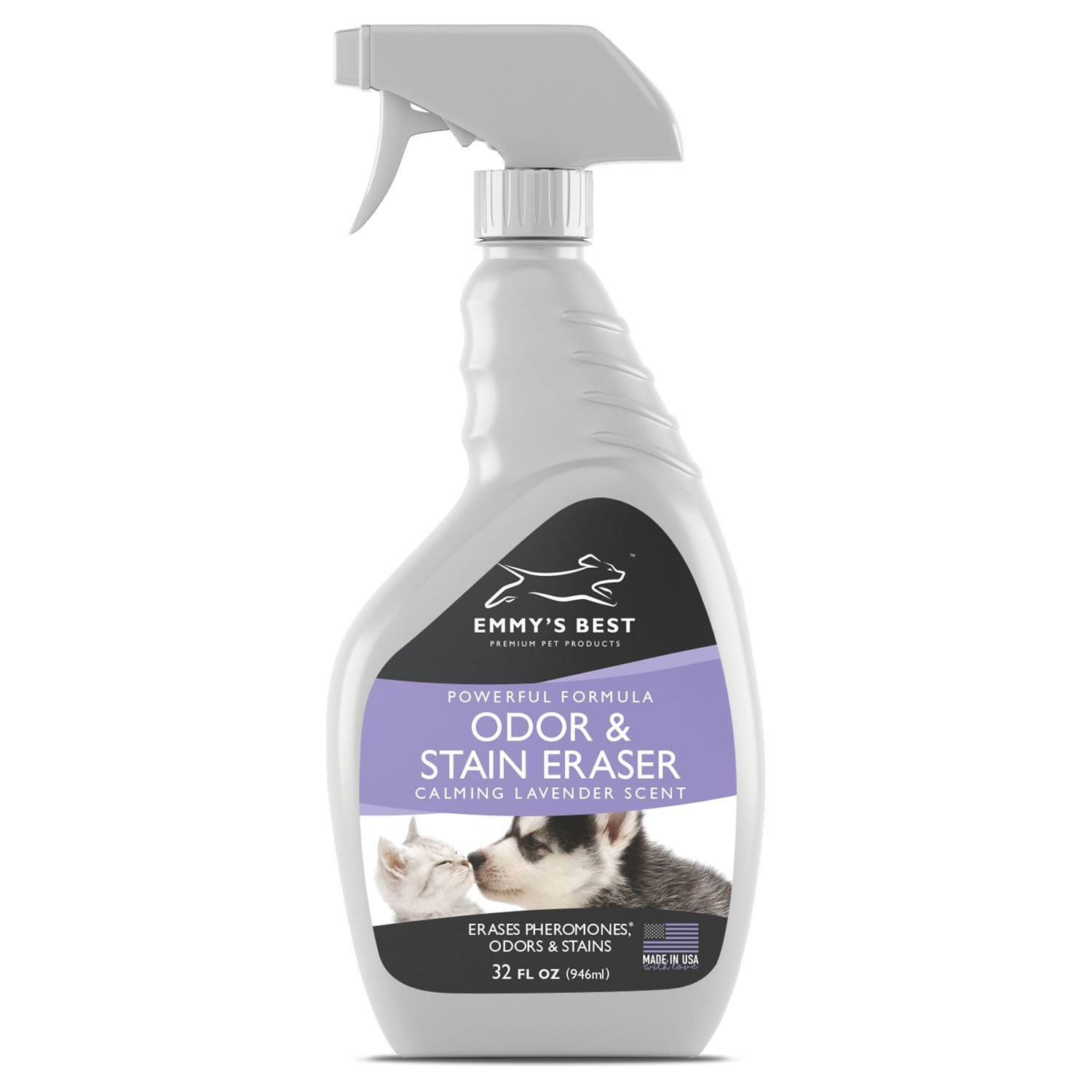 32 fl.oz BIG 32oz Premium Pet Odor Eliminator & Urine Remover Eliminates Tough Stains & Powerful Odors Using Exclusive Enzyme Formula Safe for Family, Home & Pets Works for Dogs, Cats, Bird Cages, Litter Boxes & More