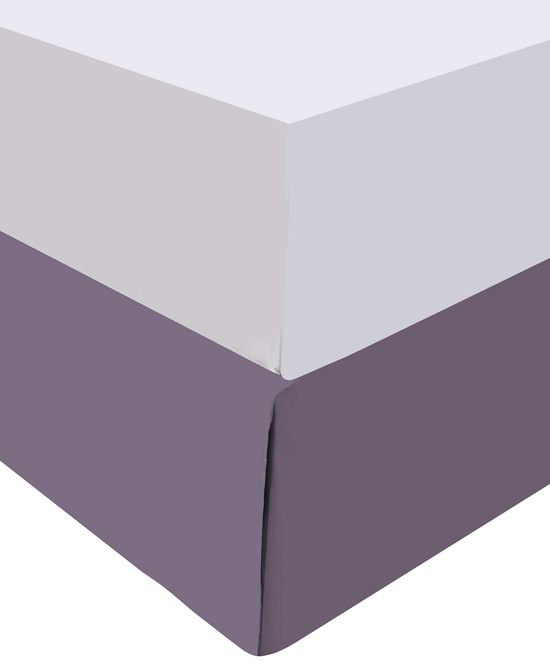 Wonder-Home 8-pc. Elegant Purple Comforter Set, Oversized Natural Leaf Printed Microfiber Bedding Set, Polyester Overfilled, Medium Weight, King, 106''x96''