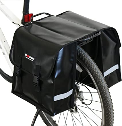 30L Bicycle Double Side Rear Rack Tail Seat Bag Pannier Mountain Road Bike Bags